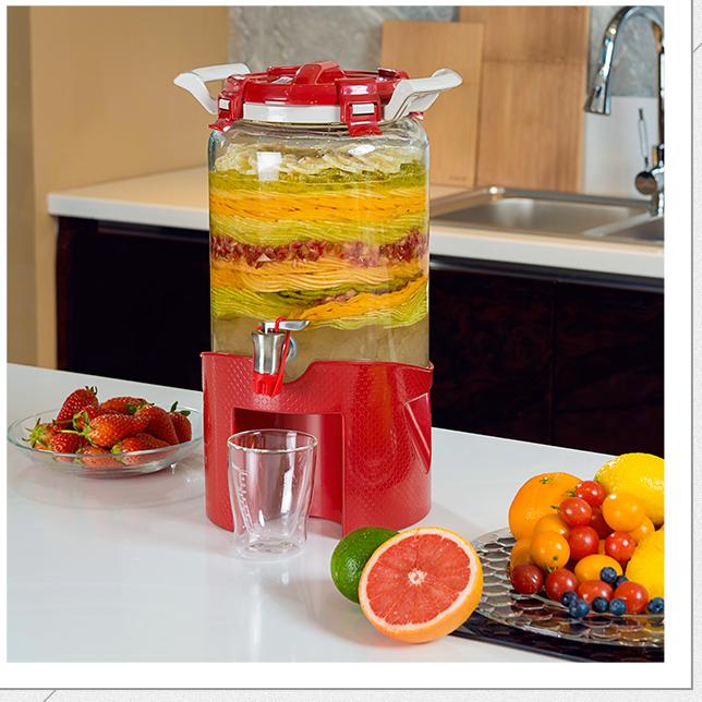居元素龙头密封罐自动排气药酒坛家用发酵罐加厚水果酵素桶泡酒