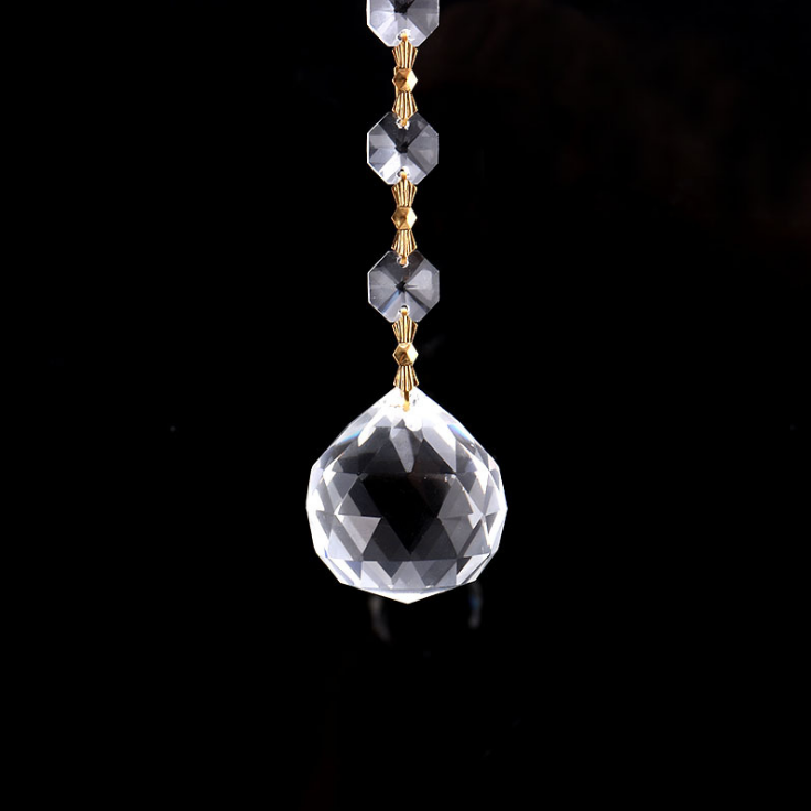 供应 **k9水晶灯饰球 配件制作尖珠水晶吊坠网格工艺品