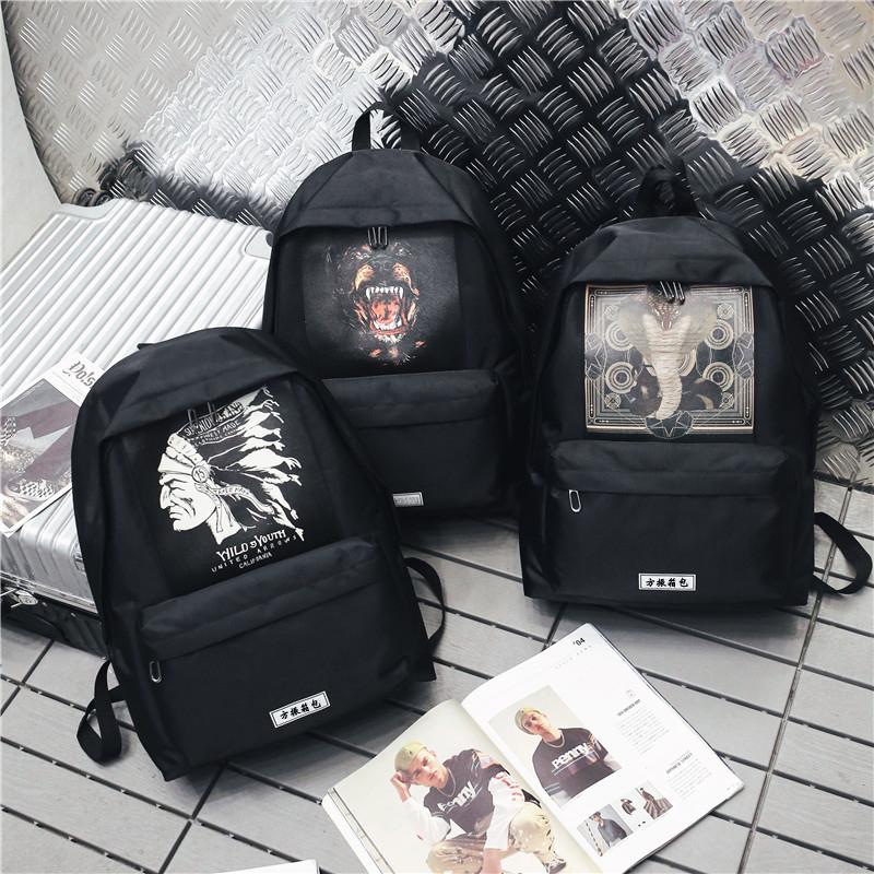 上海箱包批发定做学生书包时尚双肩包可定制logo