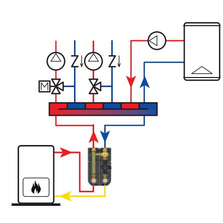 供应地暖系统用进口电动调节循环泵站