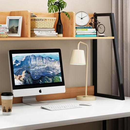 供应 办公桌经济型简约书架桌上置物架