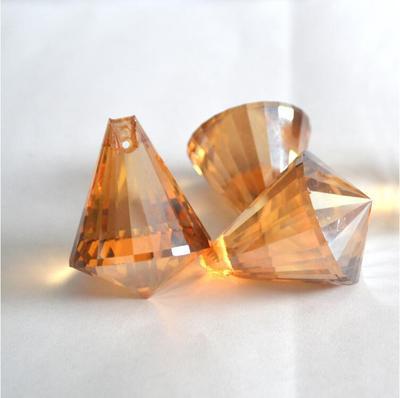 30MM水晶灯配件玻璃 金香槟钻石球灯饰球