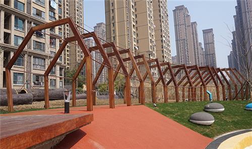 安徽防腐木廊架材质_安徽防腐木廊架_金海桥金属结构