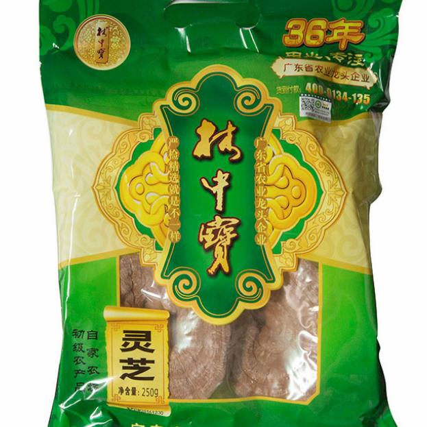 供应韩国赤灵芝 长白山特产野生原木灵芝干货椴木灵芝绿袋包装