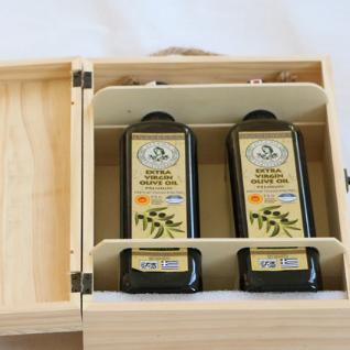 供应 双只装橄榄油礼品木盒 山茶油2支装包装木箱logo可以定做
