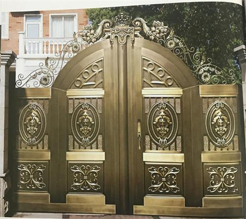 铸铝门、江盾门业价格实惠(图)、铸铝门报价