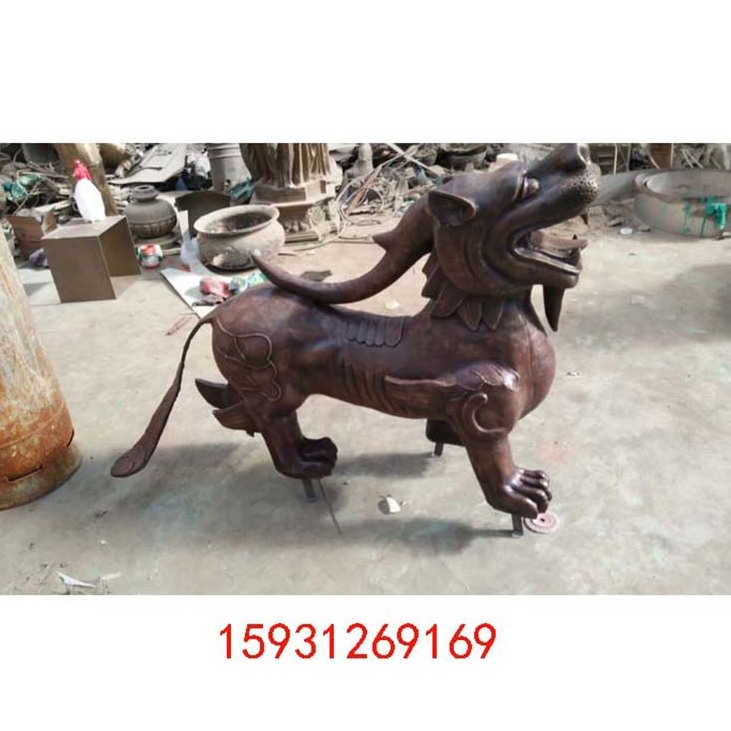 动物雕塑铜麒麟 貔貅 仿古神兽家居酒店镇宅保平安雕塑